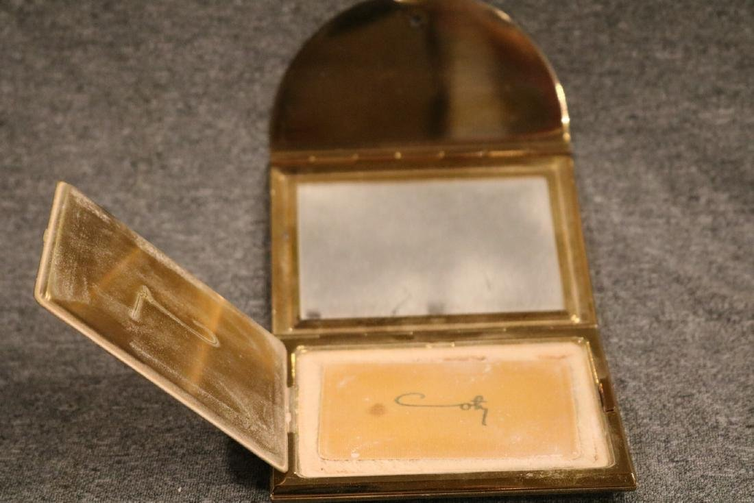 vintage Coty trifold goldtone Compact - 4