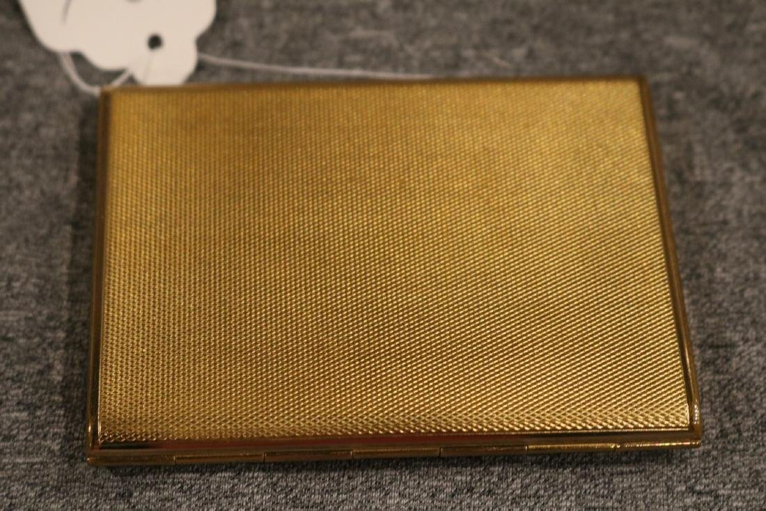 vintage Coty trifold goldtone Compact - 5