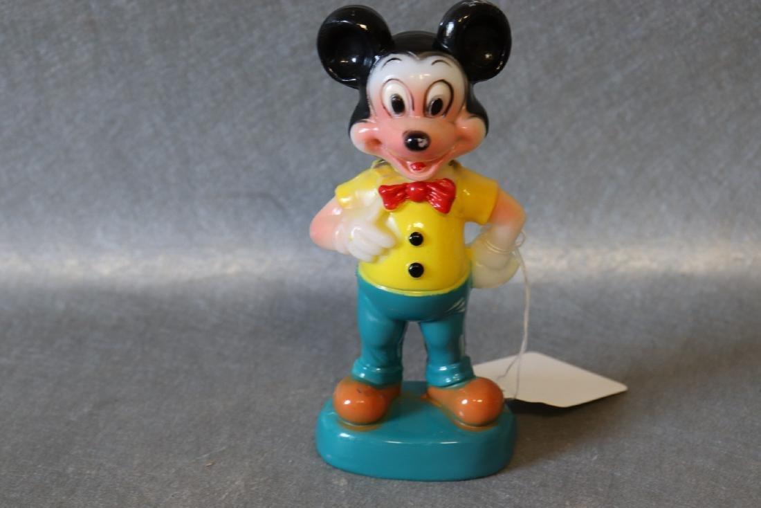 Vintage Mickey Mouse Plastic Figurine