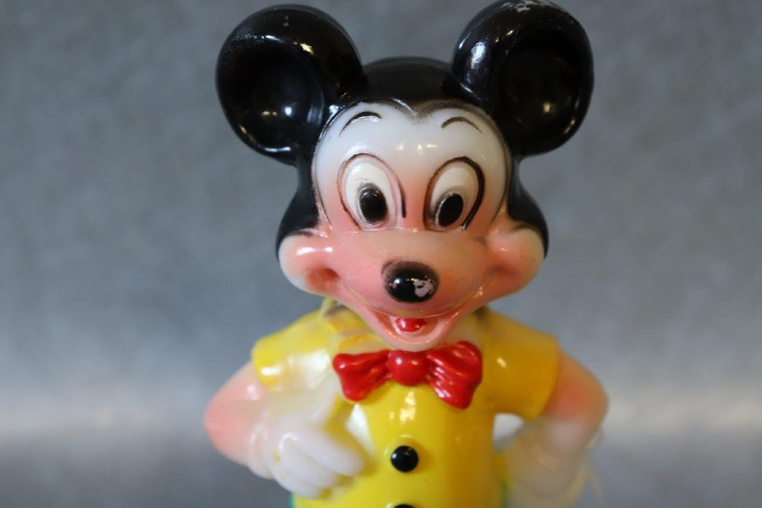 Vintage Mickey Mouse Plastic Figurine - 2