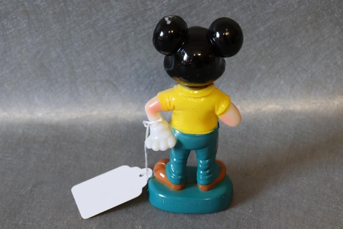Vintage Mickey Mouse Plastic Figurine - 3