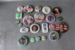 lot of Vintage Pin Back Buttons Political  more