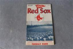 Vintage 1966 Red Sox Official Program  Scoreboard