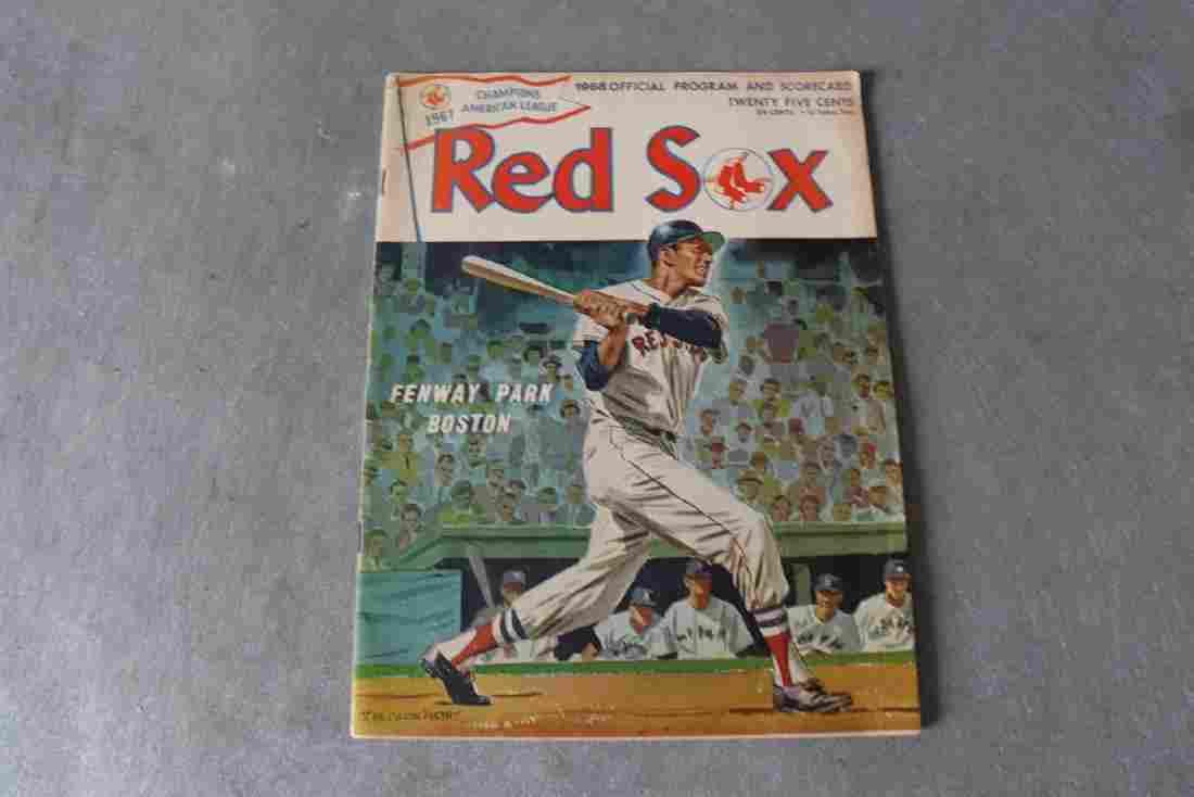 Vintage Boston Red Sox 1968 Official Program &