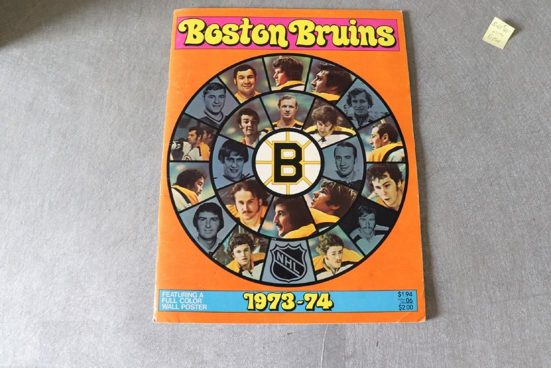 Vintage Boston Bruins 1973-74 Yearbook with Poster