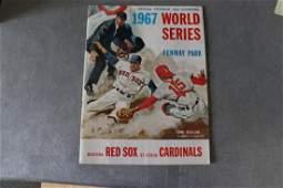 Vintage 1967 World Series Official Program & Scorecard