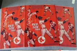 Vintage 1969 Official Red Sox Program & Score Card, Lot
