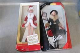 Mattel Winter Barbies, Lot of 2