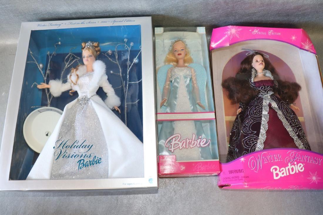 Mattel Winter Barbies, Lot of 3