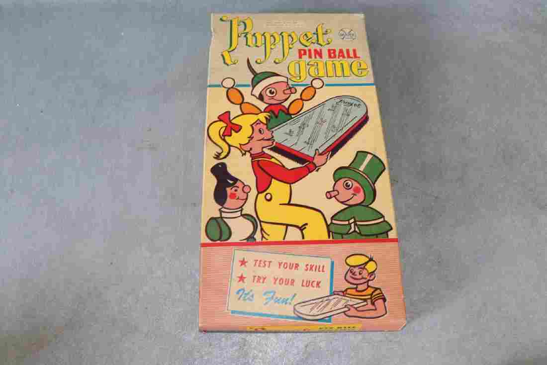 Vintage Marx Puppet Pin Ball Game, New Old Stock