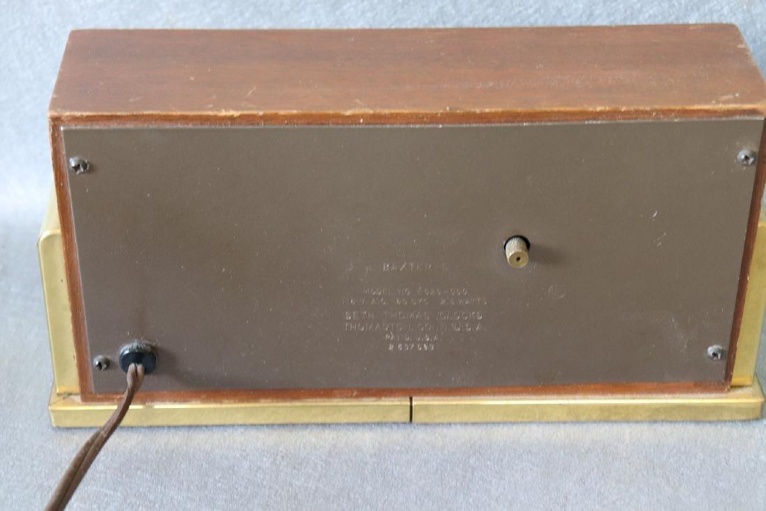 Vintage Wood Brass Seth Thomas Electric Clock - 3