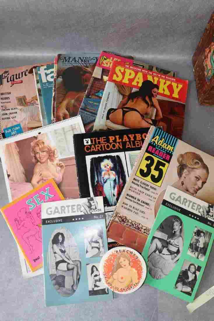 Vintage Lot of Men's Magazines with Pin Up Girls