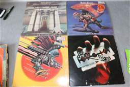 Vintage Lot of 4 Judas Priest Vinyl Record Albums
