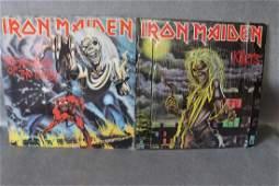 Vintage Lot of 2 Iron Maiden Vinyl Record Album