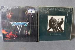 Vintage Lot of 2 Van Halen Vinyl Record Album