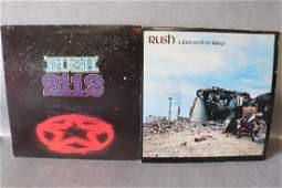 Vintage Lo of 2 Rush Vinyl Record Album