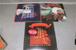 3 Vintage Krokus Vinyl Record Album
