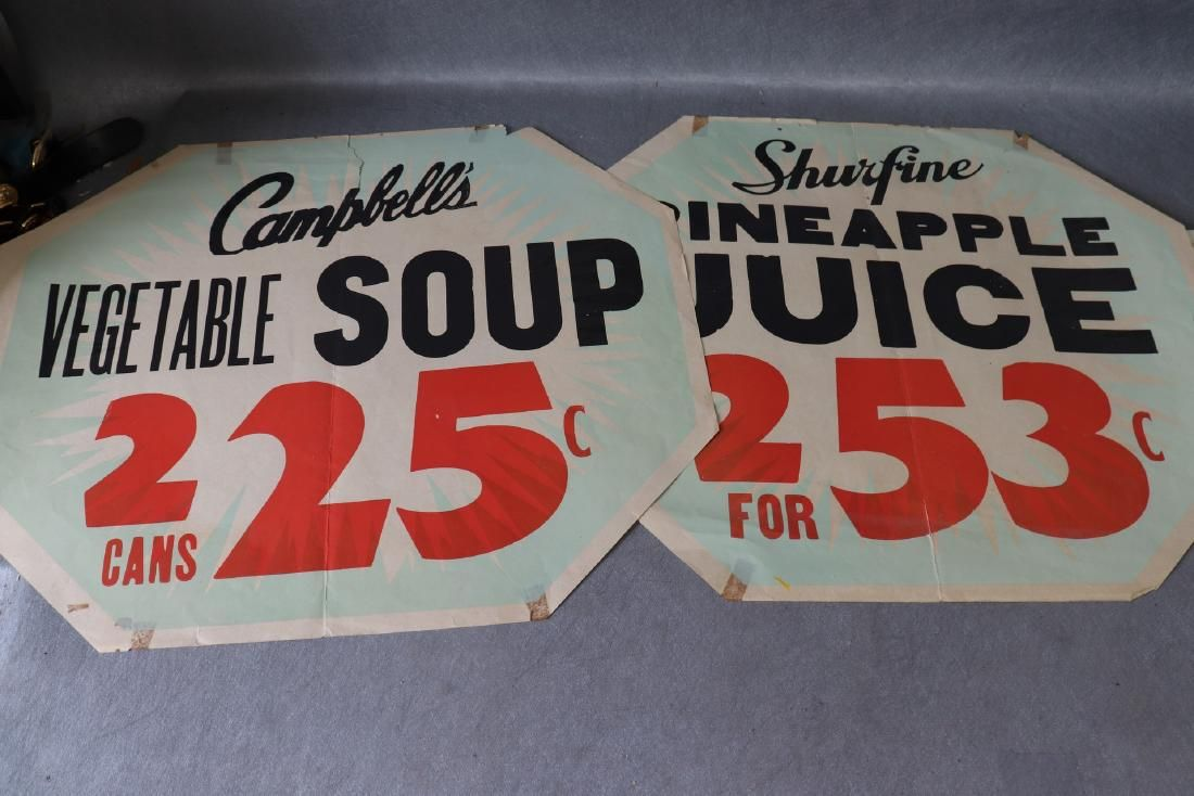 Vintage Shurfine Grocery Store Advertising