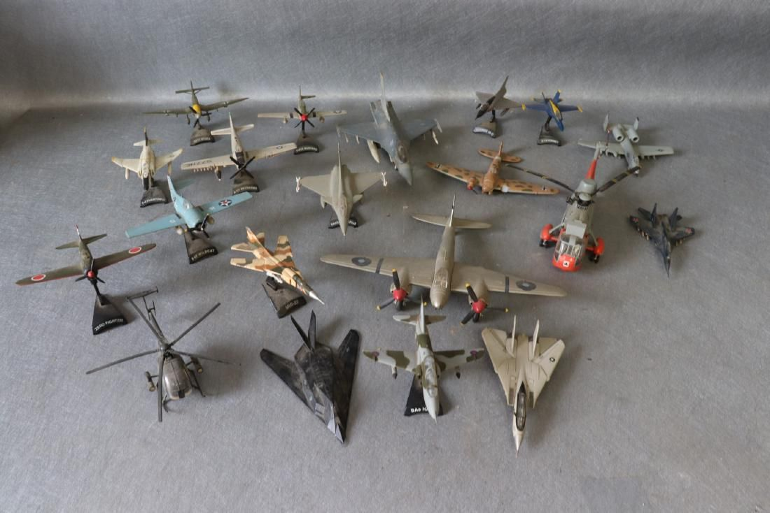 Vintage Lot of 20 Metal Toy Aircraft
