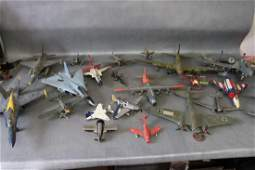 Vintage Lot of 23 Metal Toy Aircraft