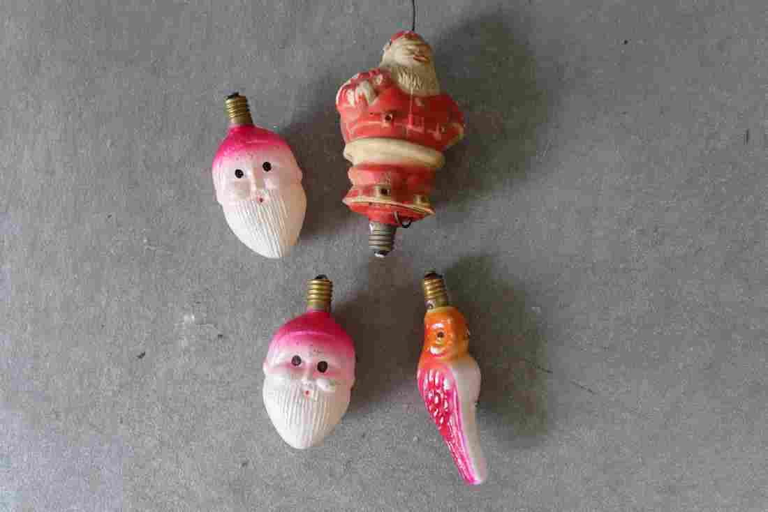Vintage Lot of 4 Holiday Light bulbs