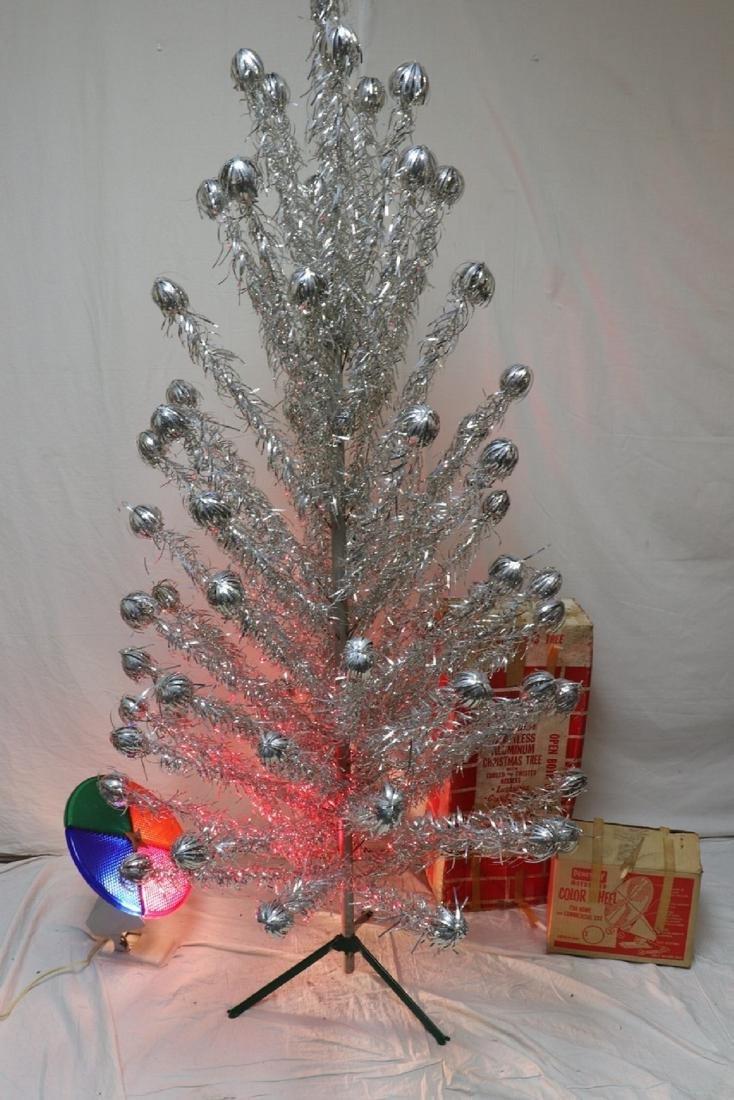Mid Century Splendor Stainless Aluminum Christmas Tree