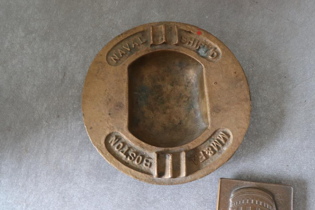 Naval Ship's MM & FA Boston Ashtray & Samuel Appleton - 2