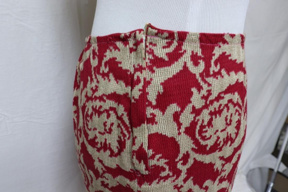 Vintage Maroon Jacket & Skirt Set, Wool Accents - 4
