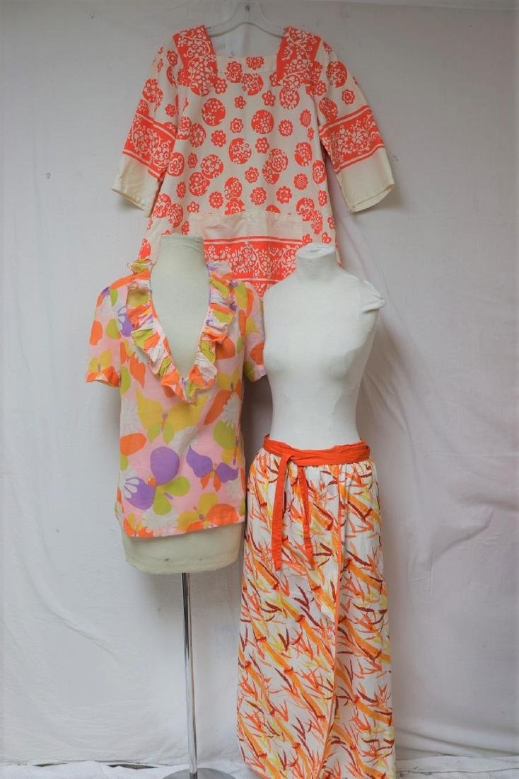 Lot Of 3 1970's Vintage Clothing, Smack, Skirt & Blouse