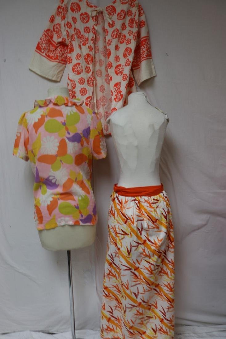 Lot Of 3 1970's Vintage Clothing, Smack, Skirt & Blouse - 2
