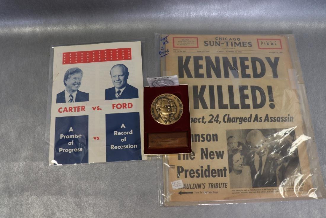 Political Lot Kennedy Assasination Original News