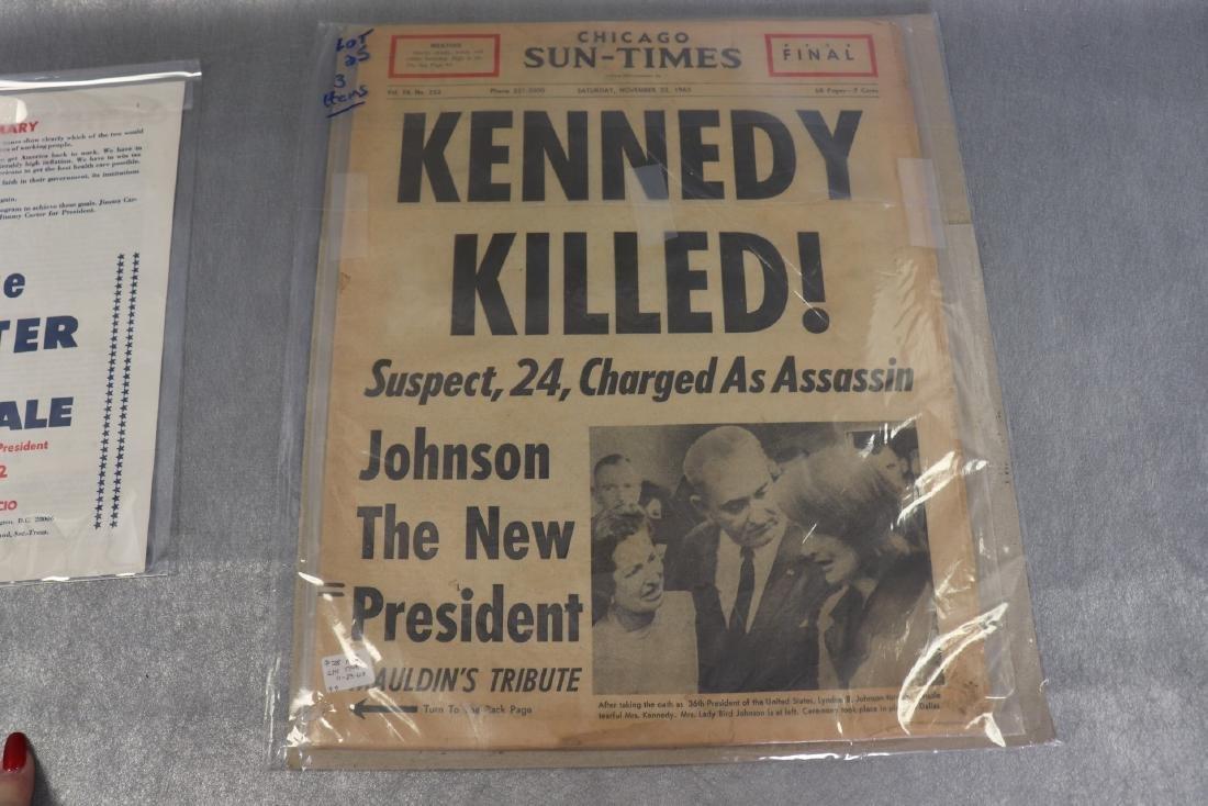 Political Lot Kennedy Assasination Original News - 4