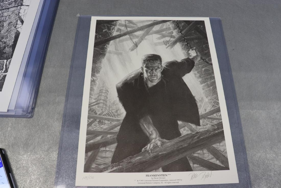 Signed And Numbered Print Frankenstein by Jefferey R.