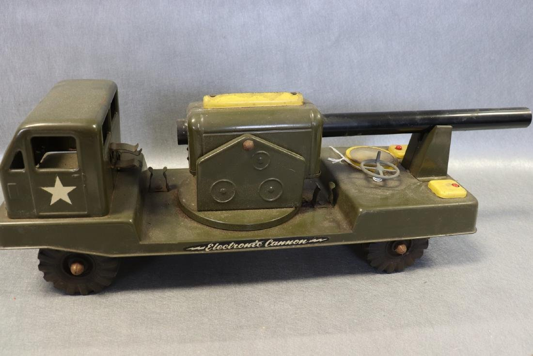 Vintage NY Lint Toys Military Green Electronic Cannon