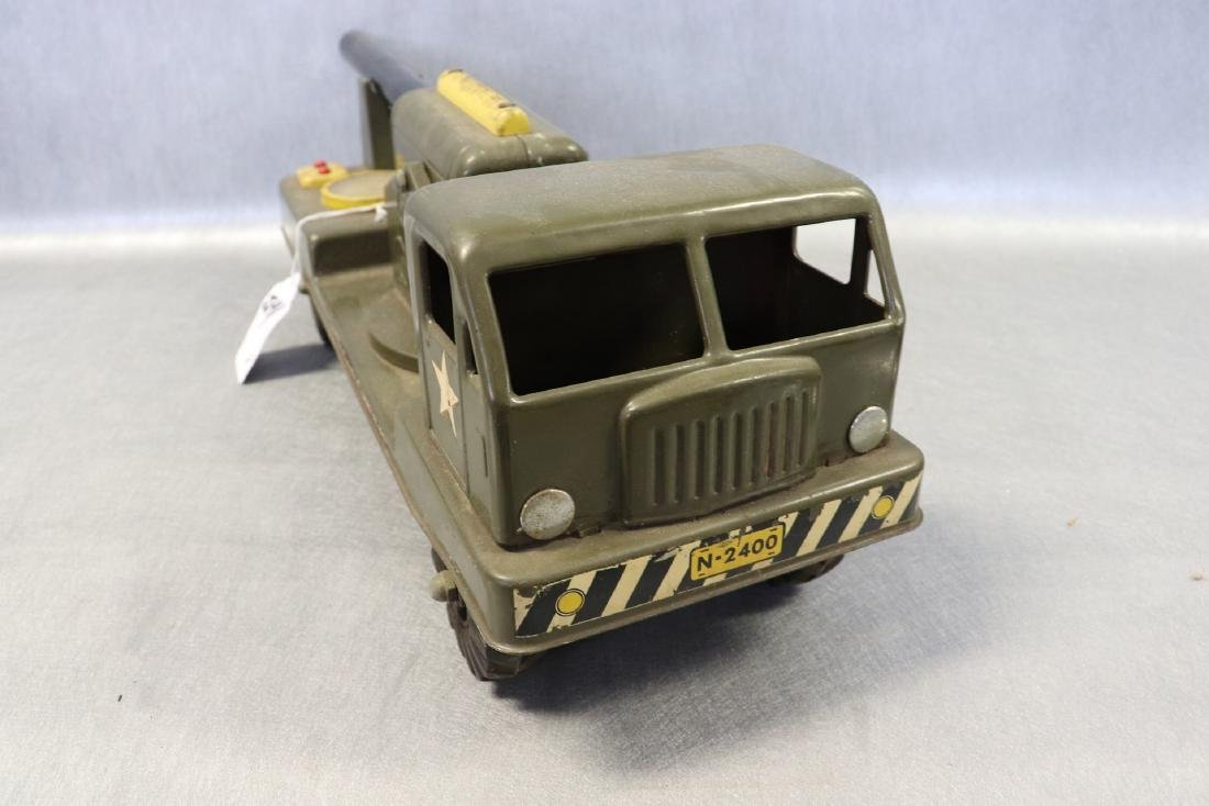 Vintage NY Lint Toys Military Green Electronic Cannon - 2