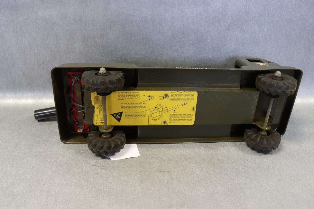 Vintage NY Lint Toys Military Green Electronic Cannon - 6