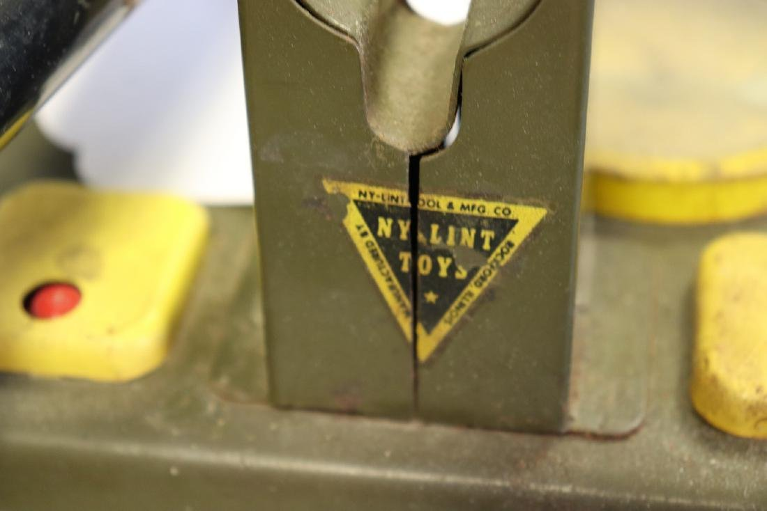 Vintage NY Lint Toys Military Green Electronic Cannon - 9