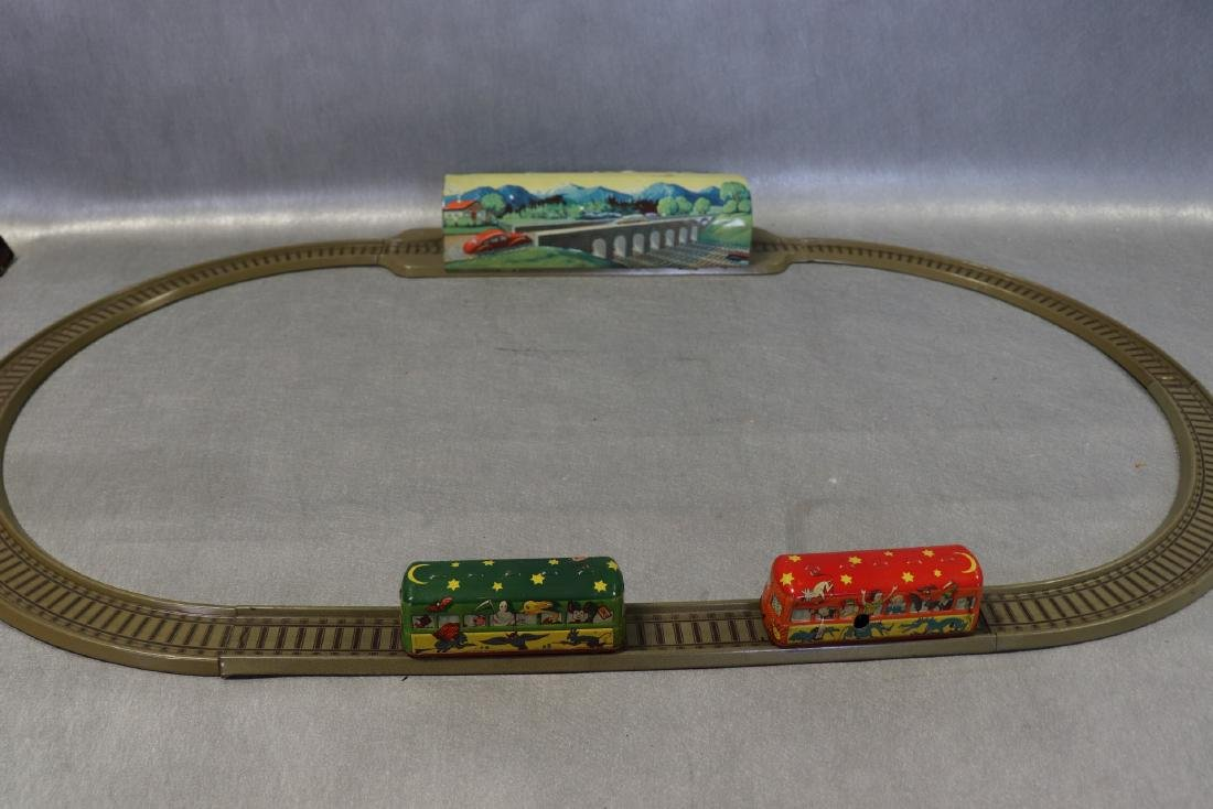 Antique Wind-Up Tin Toy, Ghost Train, Track And Tunnel,