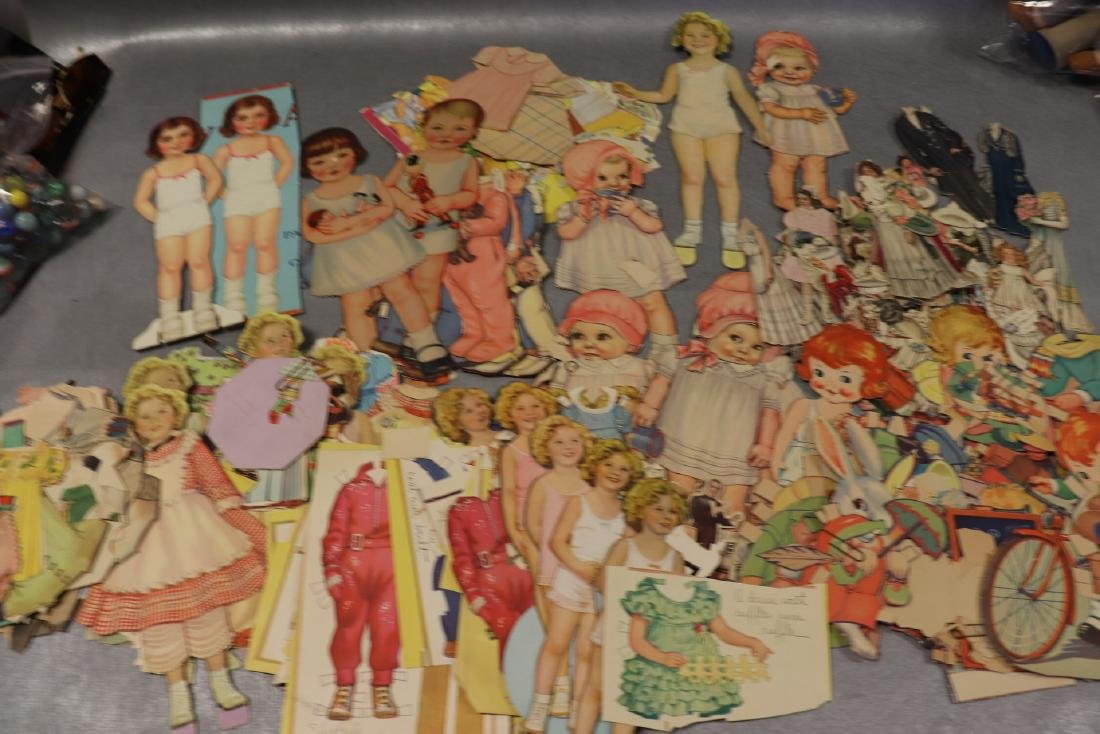 Large Lot of Paper Dolls and Clothing, Victorian Era to - 2