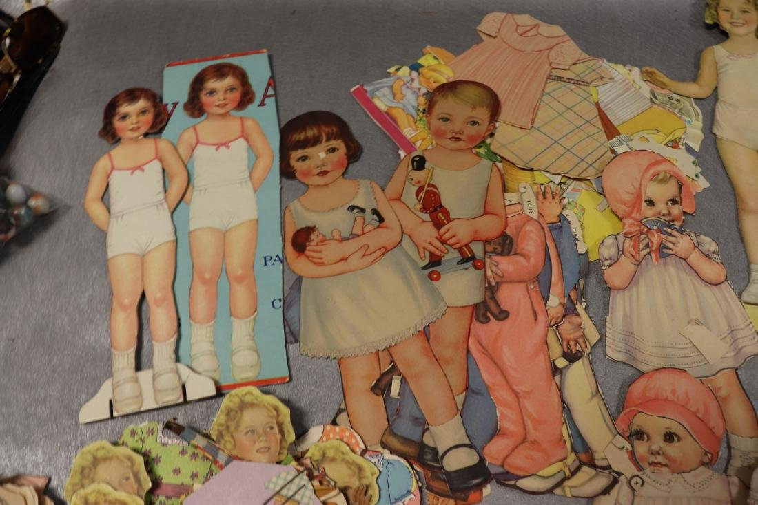 Large Lot of Paper Dolls and Clothing, Victorian Era to - 3