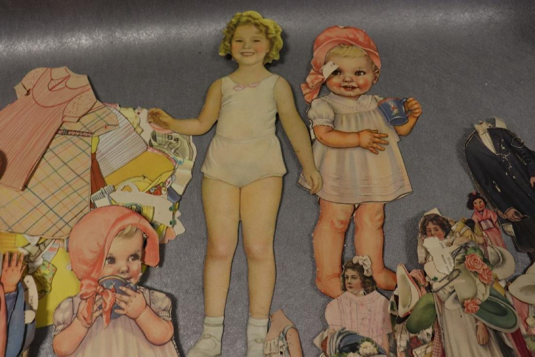 Large Lot of Paper Dolls and Clothing, Victorian Era to - 4