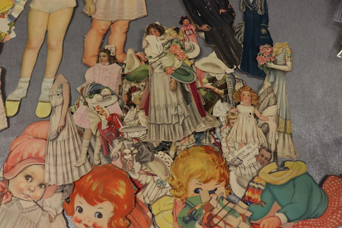 Large Lot of Paper Dolls and Clothing, Victorian Era to - 5