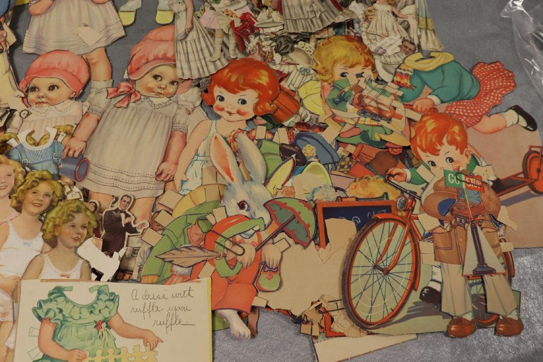 Large Lot of Paper Dolls and Clothing, Victorian Era to - 6
