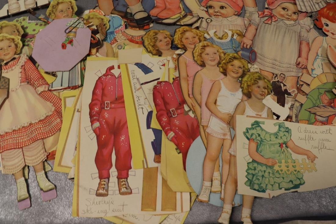 Large Lot of Paper Dolls and Clothing, Victorian Era to - 7