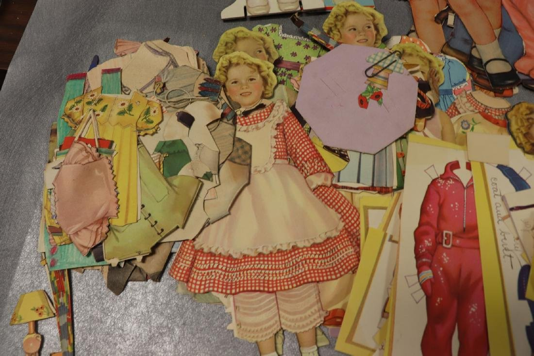 Large Lot of Paper Dolls and Clothing, Victorian Era to - 8