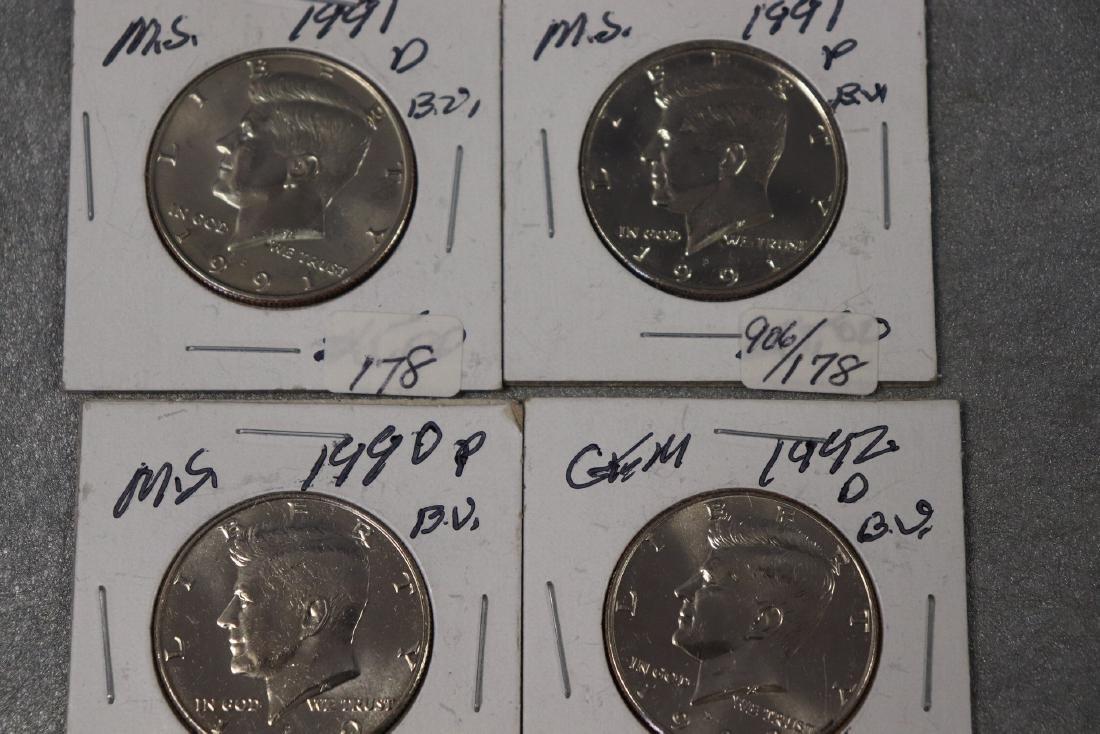 Lot of Four Kennedy Half Dollars