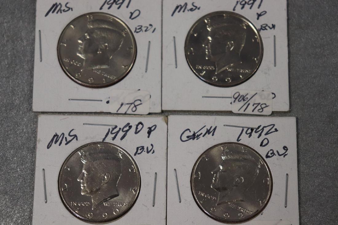 Lot of Four Kennedy Half Dollars - 2