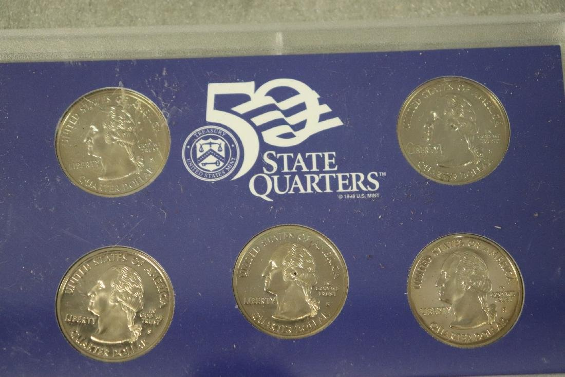 Lot of Three State Quarter Proof Sets in Case - 3