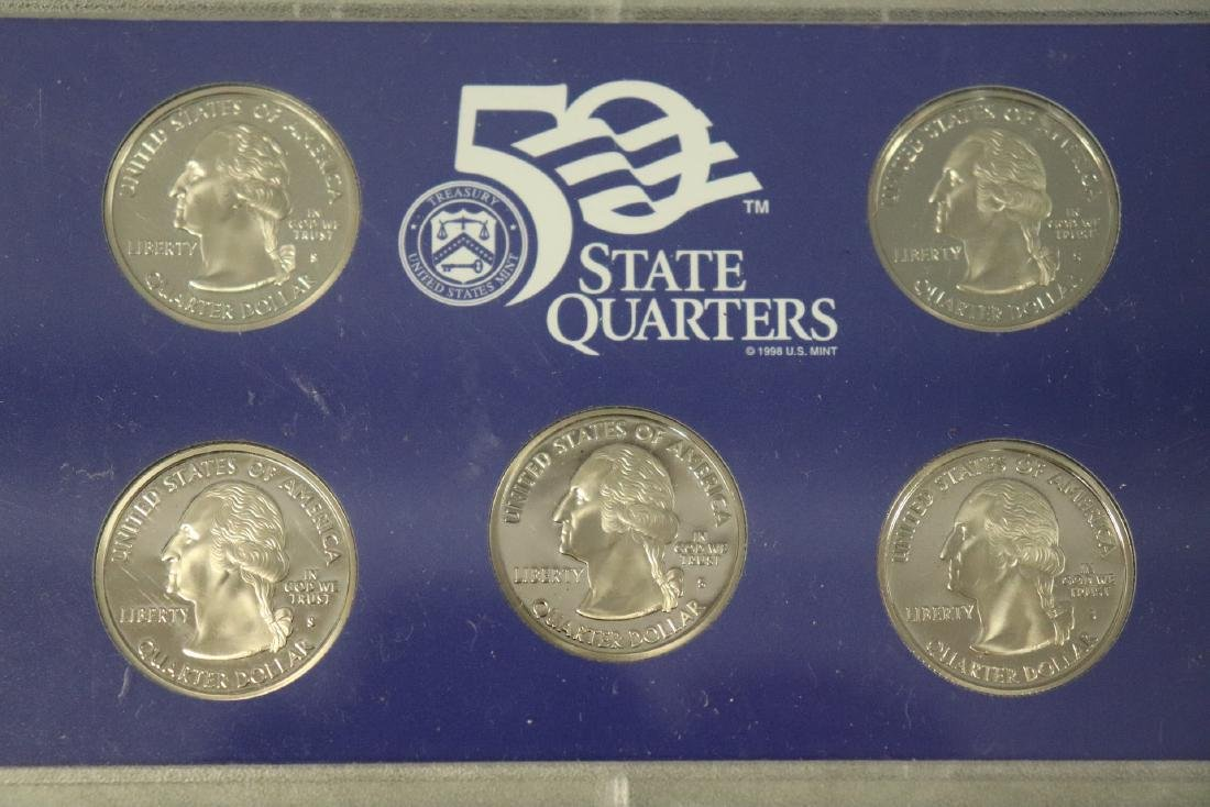 Lot of Three State Quarter Proof Sets in Case - 4