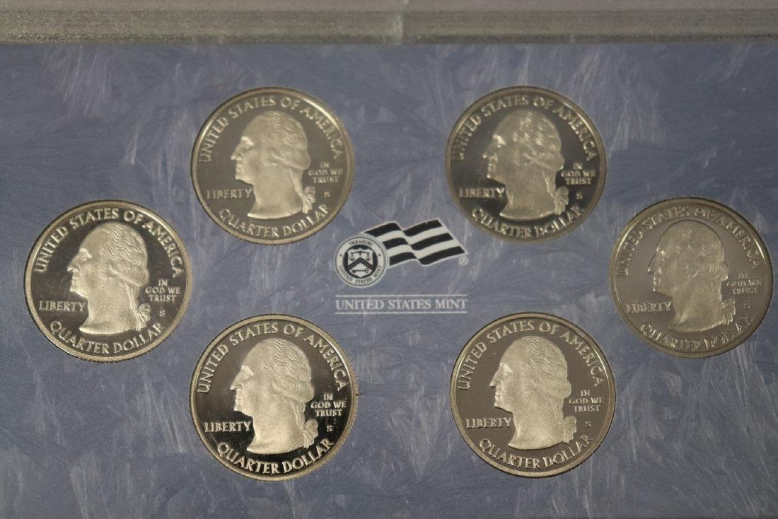 Lot of Three State Quarter Proof Sets in Case - 5